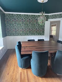 SQUARE WALNUT DINING TABLE