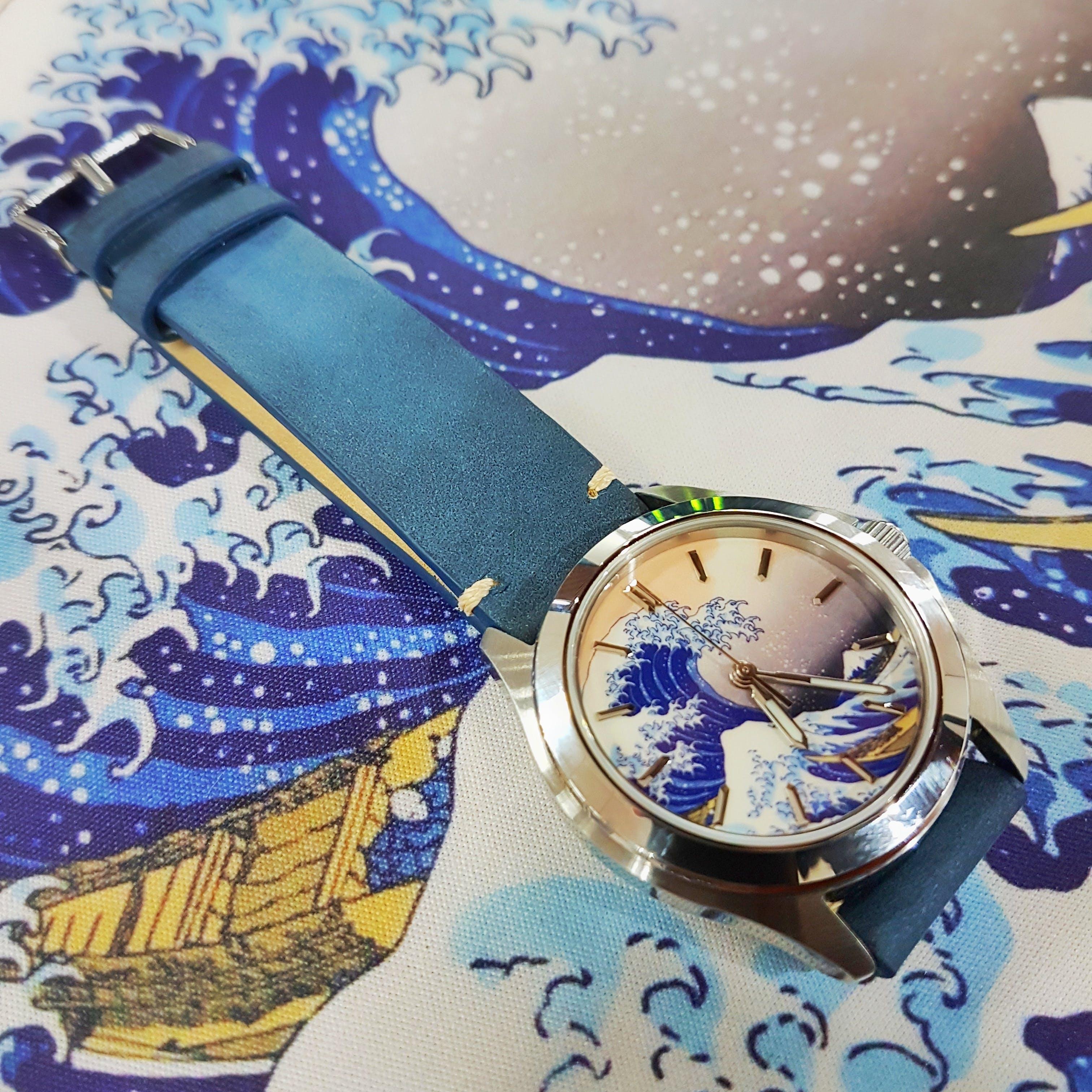 9a97c06c9 Blue Vintage Watch Strap | Genuine Leather - Lucius Atelier