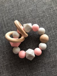 All Natural Silicone & Wood Teething Ring