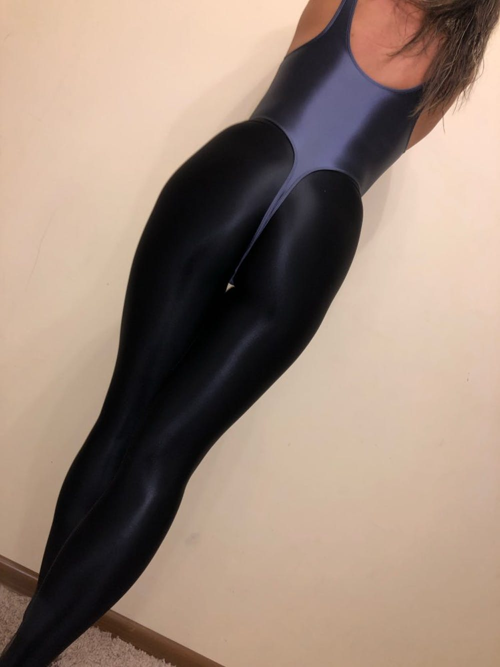 Shiny Spandex High Cut Thong Dance Leotard