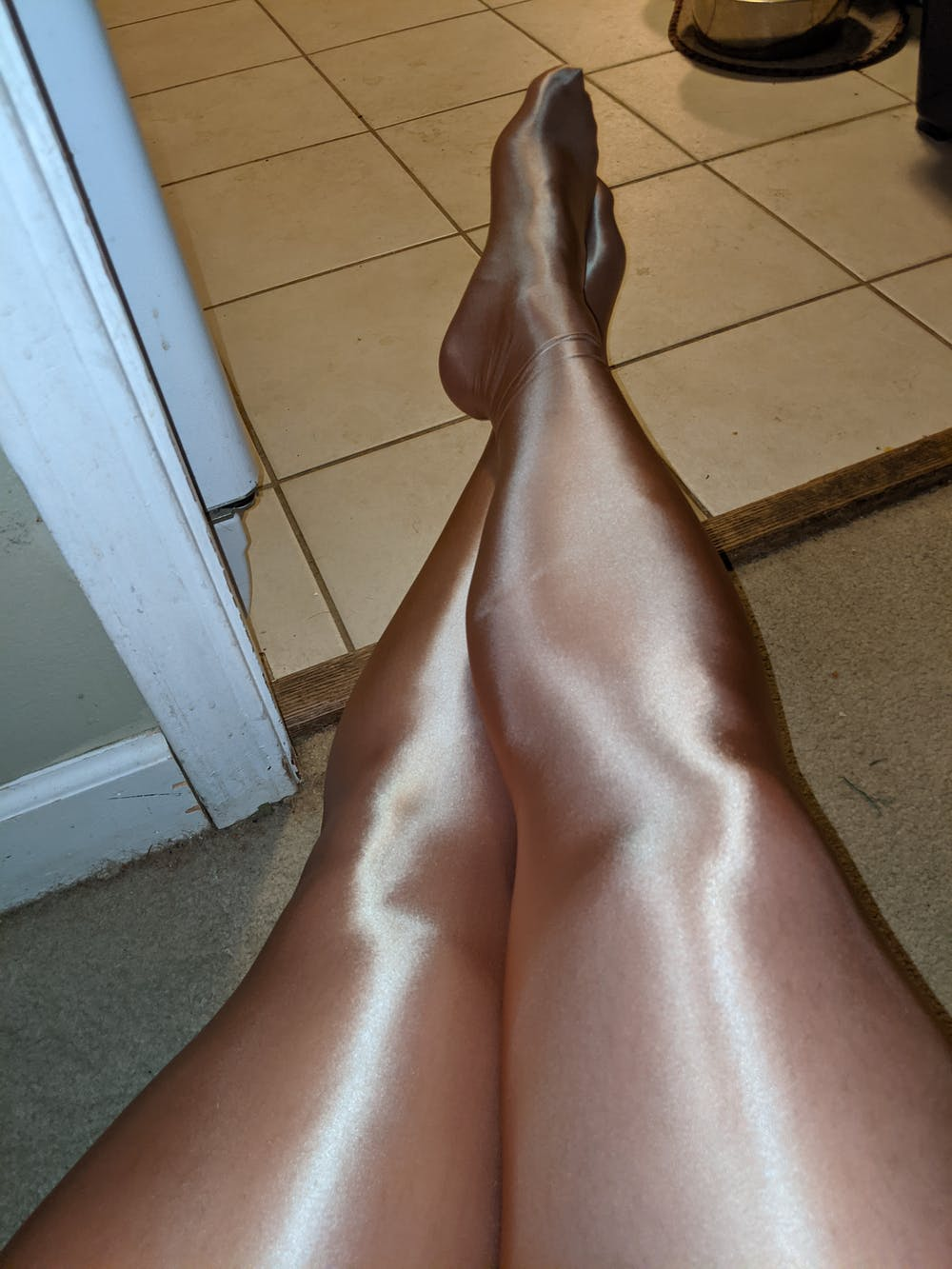 Glossy High Performance Workout Pantyhose