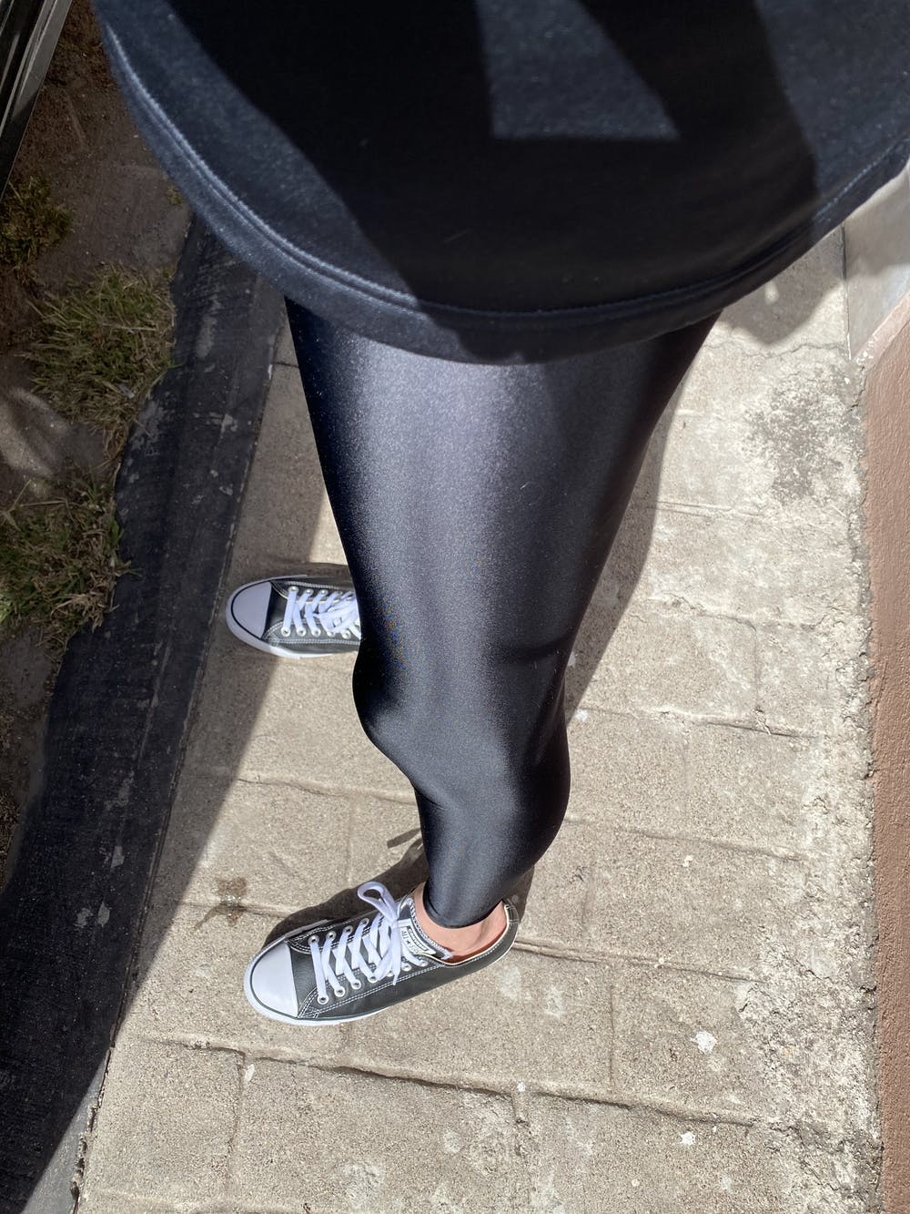 Shiny Spandex Workout Leggings