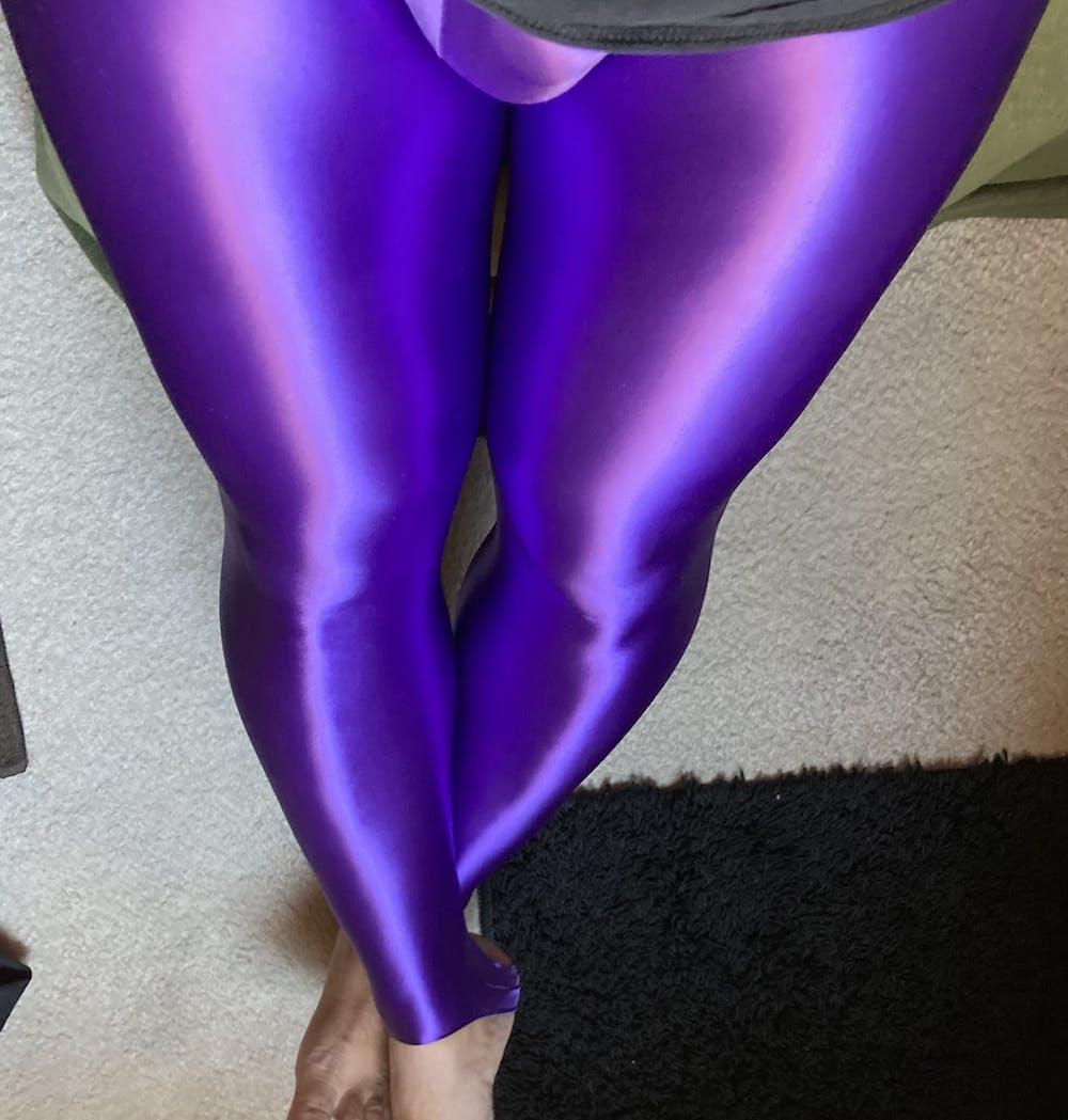 Shiny Spandex Workout Leggings