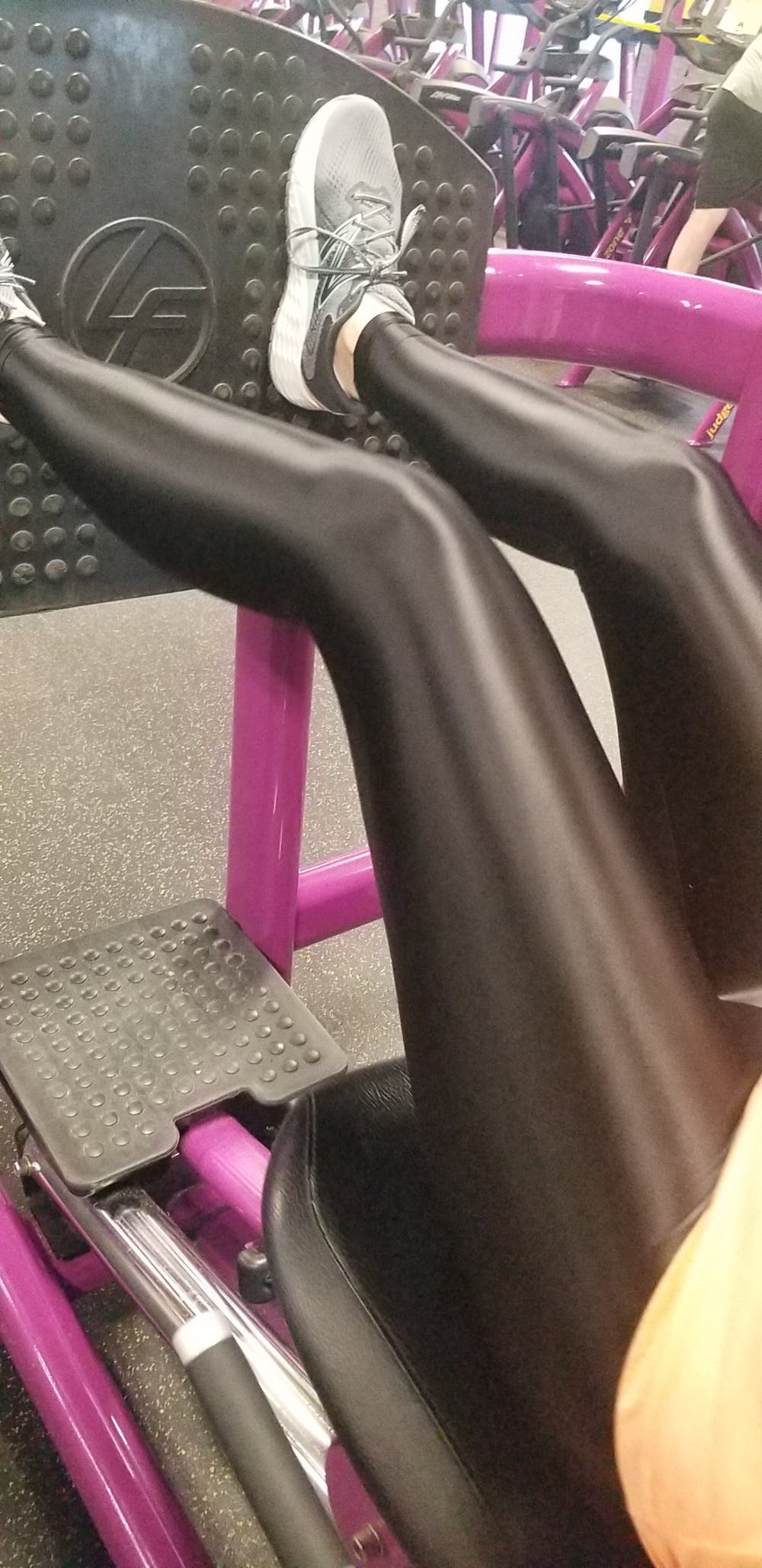 Shiny Spandex Footed Tights