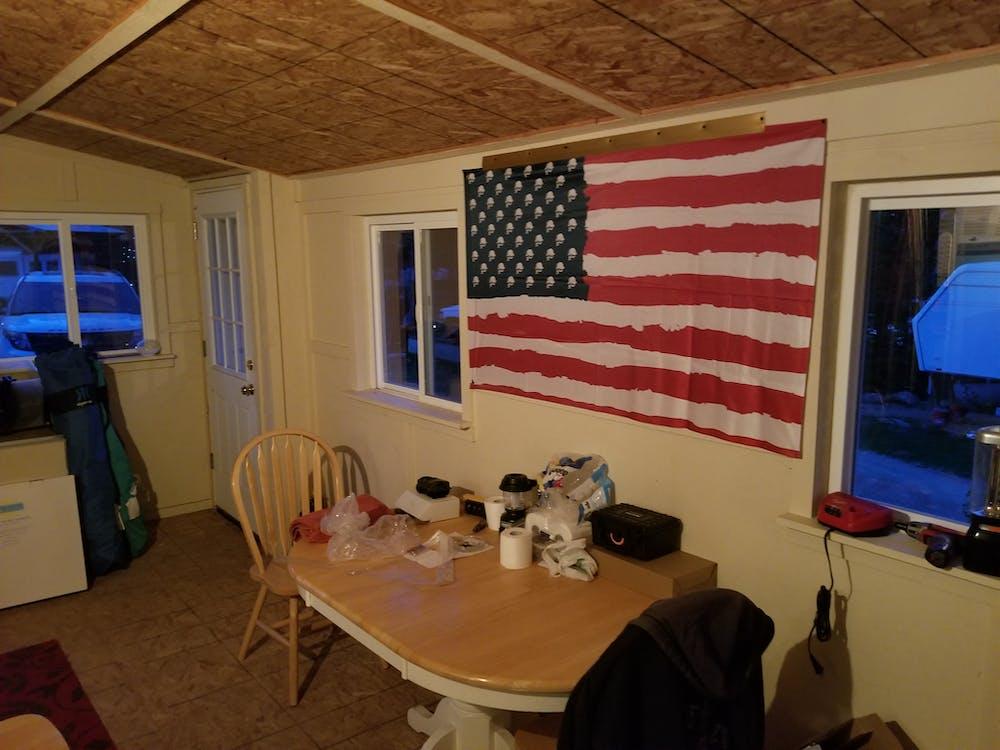 AMERICAN MULISHA GARAGE FLAG