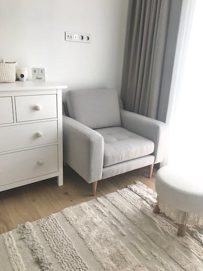 Beige Modular Armchair