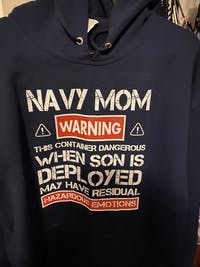 US Navy Mom Warnings T-shirts