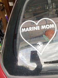 Marine Mom Raised My Hero Decal