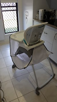 High Chair Food Catcher - White Small