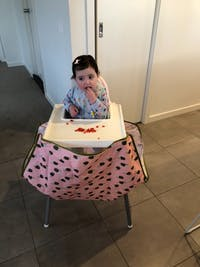 High Chair Food Catcher - Flamingo