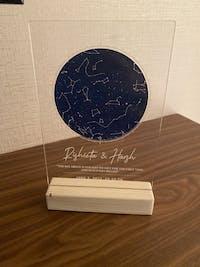 Custom Skymap Plaque - Blue