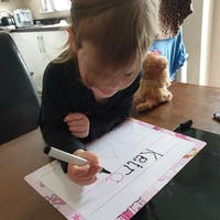 PERSONALISED LEARNING MAT | FIRST NAME + SHAPES