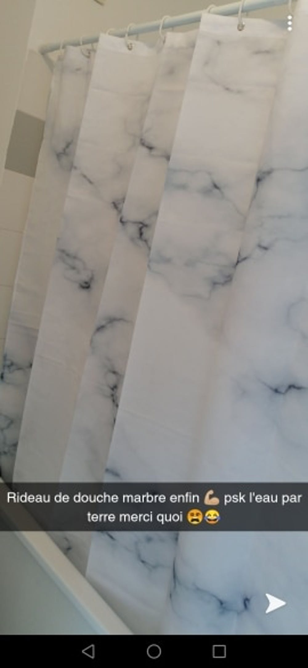 Fabric Polyester Marble Stripes Shower Curtains