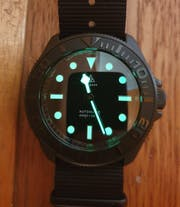 NMK904 3 O'Clock SKX007/SRPD Watch Case : PVD Matte Black Finish