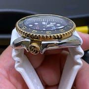 SKX007/SRPD Ceramic Bezel Insert: Dual Time style Black/Gold
