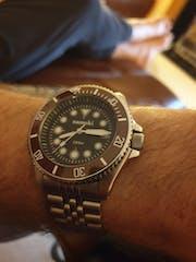 NMK904 3 O'Clock SKX007/SRPD Watch Case : Polished Finish