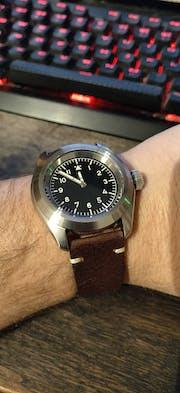 NMK907 3 O'Clock No Crown Guard SKX007/SRPD Watch Case : Polished Finish