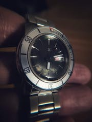 Watch Dial: Mother of Pearl Black