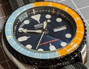 SKX007/SRPD Lumed Chapter Ring: Numerals Style Brushed Black Finish