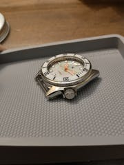 Watch Dial: Divemaster Mother of Pearl White