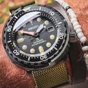 NMK920 Tuna SKX007/SRPD Watch Case Bundle: Black Finish