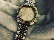 SRP Turtle Watch Bracelet: Beads of Rice Brushed/Polished Finish
