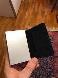 Portatarjetas RFID de cuero genuino 100%, billetera para tarjetas de crédito, tarjetero de cierre RFID, diseño vintage, tarjetero delgado para hombre