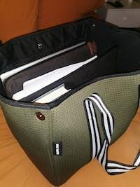 Aria (Khaki Green) Nappy/Gym/Uni Neoprene Tote Bag