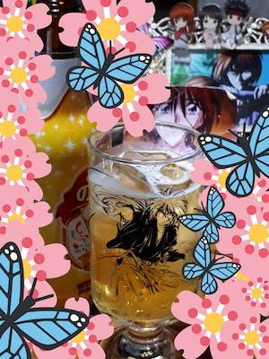 【残5点/限定90点】剣心RedX ビール&グラスSET モデル#2 ステッカー付 (るろうに剣心)
