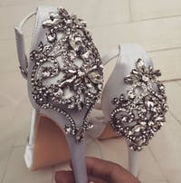 CARMEN - Platform Satin Wedding Shoes