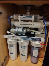 NU Aqua Platinum Series 6 Stage Alkaline 100GPD RO System with Booster Pump
