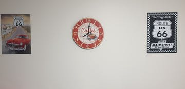 TFA Coffee Vintage Wood Wall Clock, 34cm