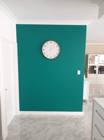 One Six Eight London Scarlett Wall Clock, White, 50cm + GIFT