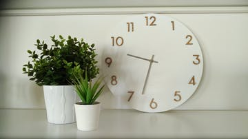 One Six Eight London Evie Wall Clock, White, 35cm