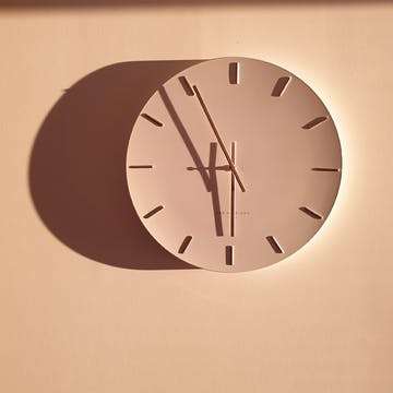 One Six Eight London Luca Wall Clock, White, 40cm