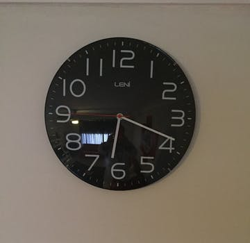 Leni Classic Wall Clock, Black, 30cm
