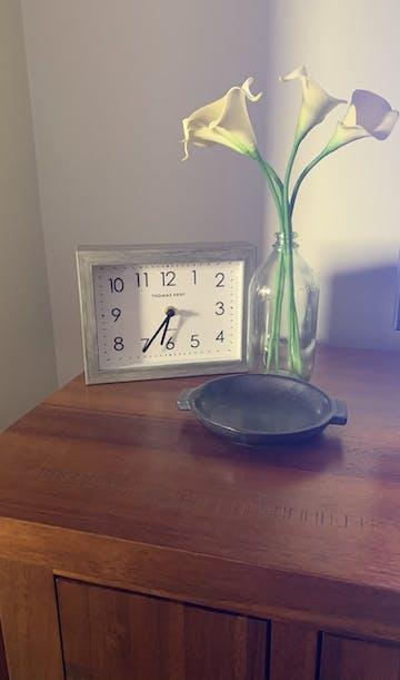 Thomas Kent Smithfield Mantel Clock, Limestone, 21cm