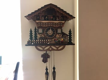 Cambridge Alice Musical Dancers Wooden Pendulum Cuckoo Clock, 36cm