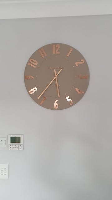 Thomas Kent Mulberry Wall Clock, Rose Gold, 50cm