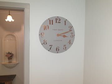 Thomas Kent Arabic Wall Clock, Flint Grey, 50cm