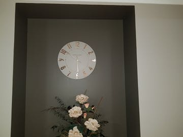 Thomas Kent Mulberry Wall Clock, Silver Cloud, 50cm