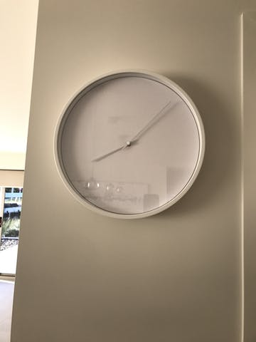 Huygens Tone 35 Wall Clock, White