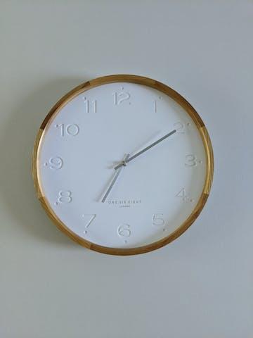 One Six Eight London Freya Wall Clock, White, 35cm