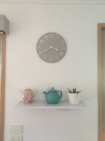 Thomas Kent Arabic Wall Clock, Dove Grey, 31cm
