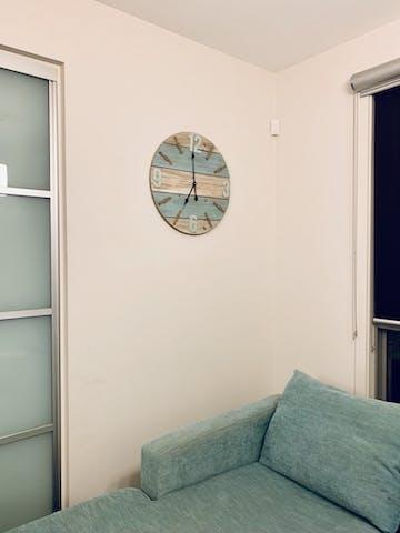 Patterson Shabby Marine Timber Panel Wall Clock, 60cm