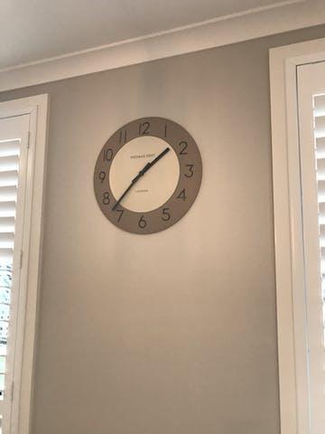 Thomas Kent Townhouse Wall Clock, Cobblestone Brown, 51cm