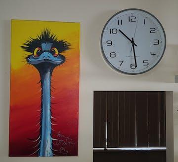 One Six Eight London Carmen Wall Clock, Cool Grey, 30cm