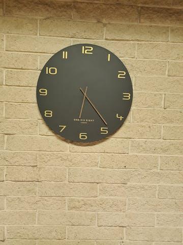 One Six Eight London Blake Wall Clock, Charcoal Grey, 60cm