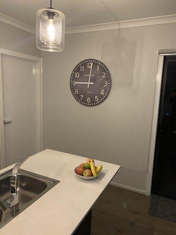 Thomas Kent Wharf Wall Clock, Lead Grey, 76cm