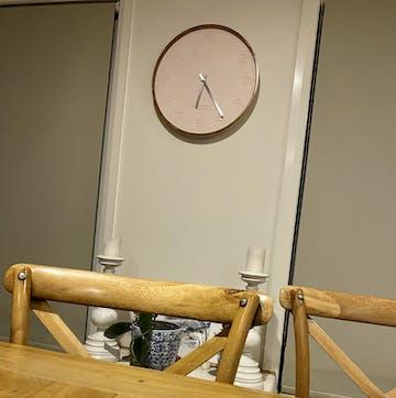 One Six Eight London Freya Wall Clock, Blush, 50cm
